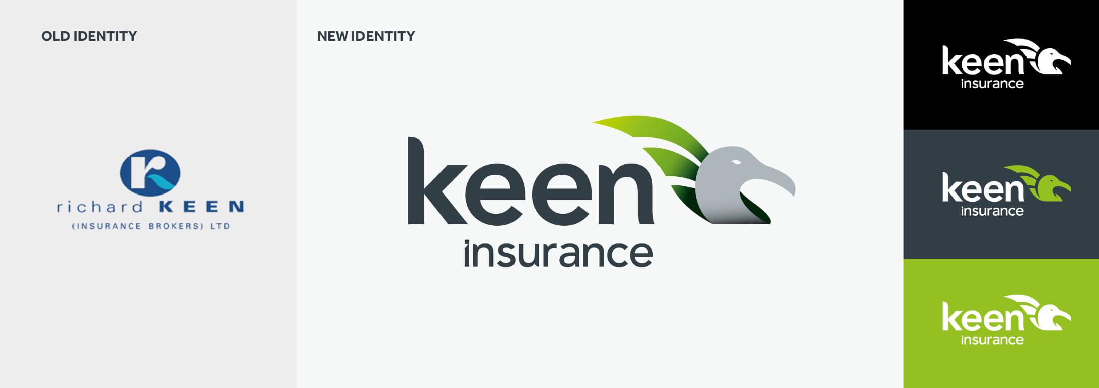 keen insurance branding amp web design limegreentangerine